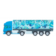 Linijka 15cm, ciężarówka