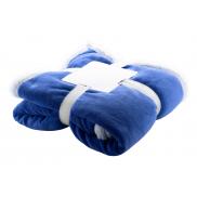 Koc polarowy - coral fleece - niebieski