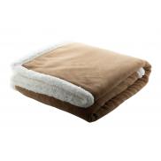 Koc polarowy - coral fleece - brązowy