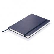 Notatnik A5 Deluxe, twarda okładka - niebieski