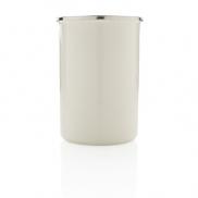 Emaliowany kubek XL 680 ml w stylu vintage - biały