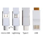 Kabelek USB brelok - pomarańcz