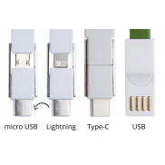 Kabelek USB brelok - zielony