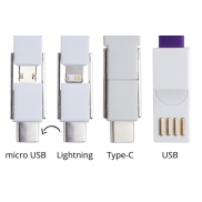 Kabelek USB brelok - purpura