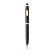 Długopis, touch pen, lampka COB - czarny