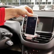 Uniwersalny, samochodowy uchwyt do telefonu - czarny, szary