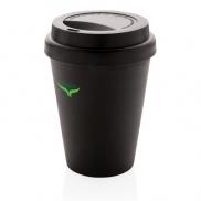 Ekologiczny kubek podróżny 300 ml - czarny