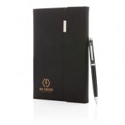 Notatnik A5 z długopisem Swiss Peak - czarny