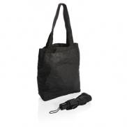 Parasol manualny 21', składany, torba na zakupy - czarny