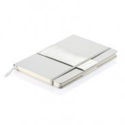 Notatnik A5 Deluxe - srebrny
