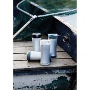 Ekologiczny kubek podróżny 225 ml Boom - biały, szary