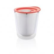 Kubek termiczny 227 ml Dia - czerwony, szary