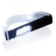 Pasek bezpieczeństwa LED - biały, czarny