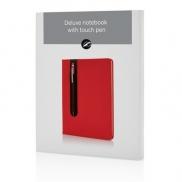 Notatnik A5 Deluxe, touch pen - czerwony