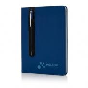 Notatnik A5 Deluxe, touch pen - niebieski