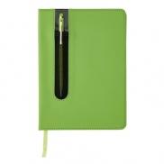 Notatnik A5 Deluxe, touch pen - zielony