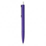 Długopis X3 - fioletowy, biały