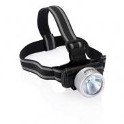 Latarka na głowę 3 LED Everest - srebrny, czarny