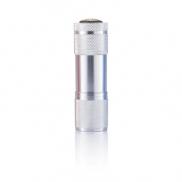 Latarka 9 LED Quattro - srebrny
