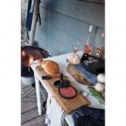 Zestaw grillowy do hamburgerów - szary