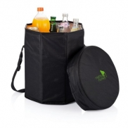Składana torba termoizolacyjna, stołek - czarny