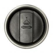 Kubek podróżny 350 ml Contour - czarny, srebrny