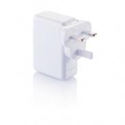 Uniwersalna ładowarka, adapter podróżny - biały