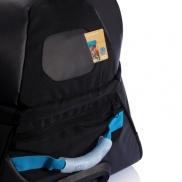Duża torba sportowa, podróżna na kółkach - niebieski, czarny