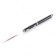 Długopis 4 w 1, touch pen, wskaźnik laserowy, latarka - czarny