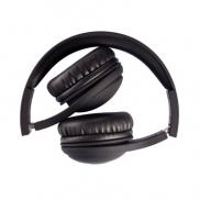 Bezprzewodowe słuchawki nauszne, składane - czarny