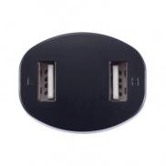 Podwójna ładowarka samochodowa USB - czarny