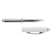 Długopis, touch pen, lampka - biały