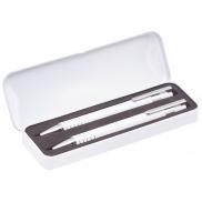 Zestaw piśmienny, długopis i ołówek mechaniczny - biały