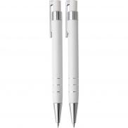 Zestaw piśmienny, ołówek mechaniczny i długopis - biały