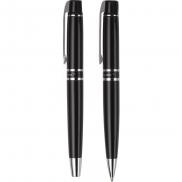 Zestaw piśmienny Charles Dickens, długopis i pióro kulkowe - czarny