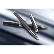 Zestaw piśmienny Charles Dickens, długopis i pióro kulkowe - szary