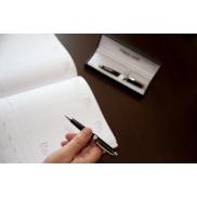 Zestaw piśmienny Mauro Conti, długopis i pióro kulkowe - czarny