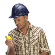 Antystres 'kask' - żółty