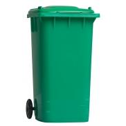 Pojemnik na przybory do pisania 'kontener na śmieci' - zielony