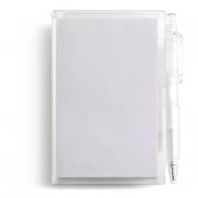 Notatnik ok. A7 z długopisem - biały