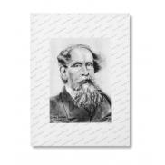 Teczka konferencyjna A4 Charles Dickens z notatnikiem i kalkulatorem - czarny