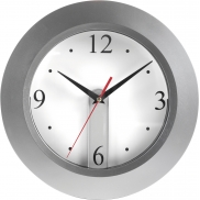 Zegar ścienny - srebrny