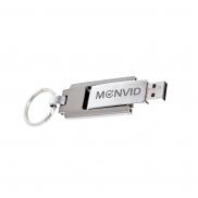 Pamięć USB z brelokiem - srebrny