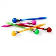 Długopis 'żarówka' z zatyczką - granatowy