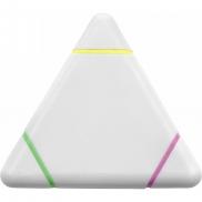 Zakreślacz 'trójkąt' - biały