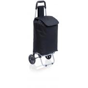 Wózek poliestrowy, składany - czarny