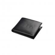 Skórzany portfel Mauro Conti - czarny