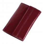 Skórzany portfel damski Mauro Conti - czerwony