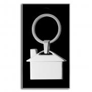 Brelok do kluczy 'domek' - srebrny