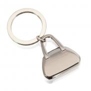 Brelok do kluczy 'torebka' - srebrny